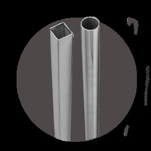 Tubi Tondi e Quadri in acciaio